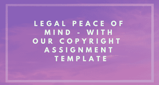 Copyright Assignment Template Image Banner