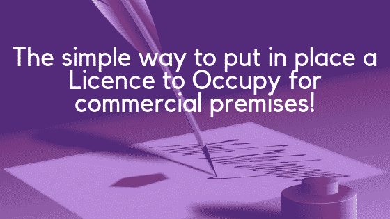 Licence to Occupy Commercial Premises - Template Drafting Image