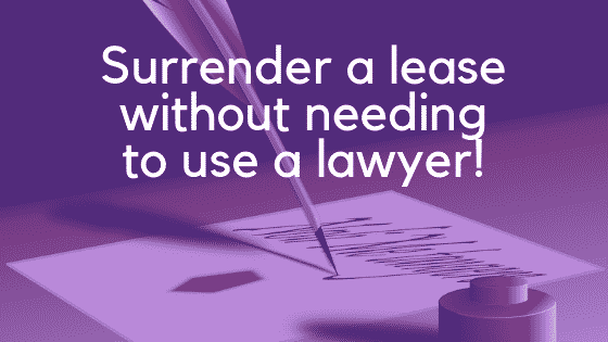 Guide to deed of surrender of a lease image