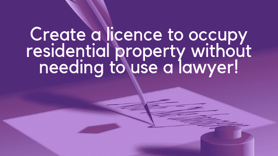 Licence to occupy residential property image