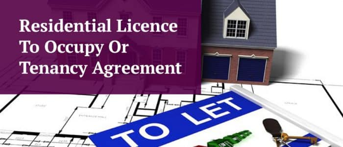 residential Licence or Tenancy Agreement Header