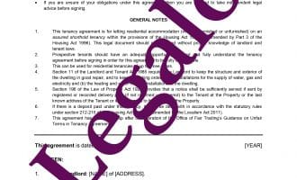 Assured Shorthold Tenancy Agreement preview 1 image