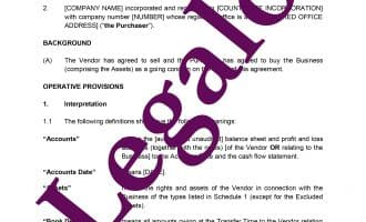Business Transfer Agreement preview