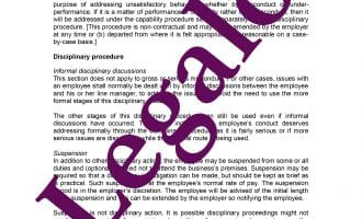 Disciplinary Procedure preview 1 image