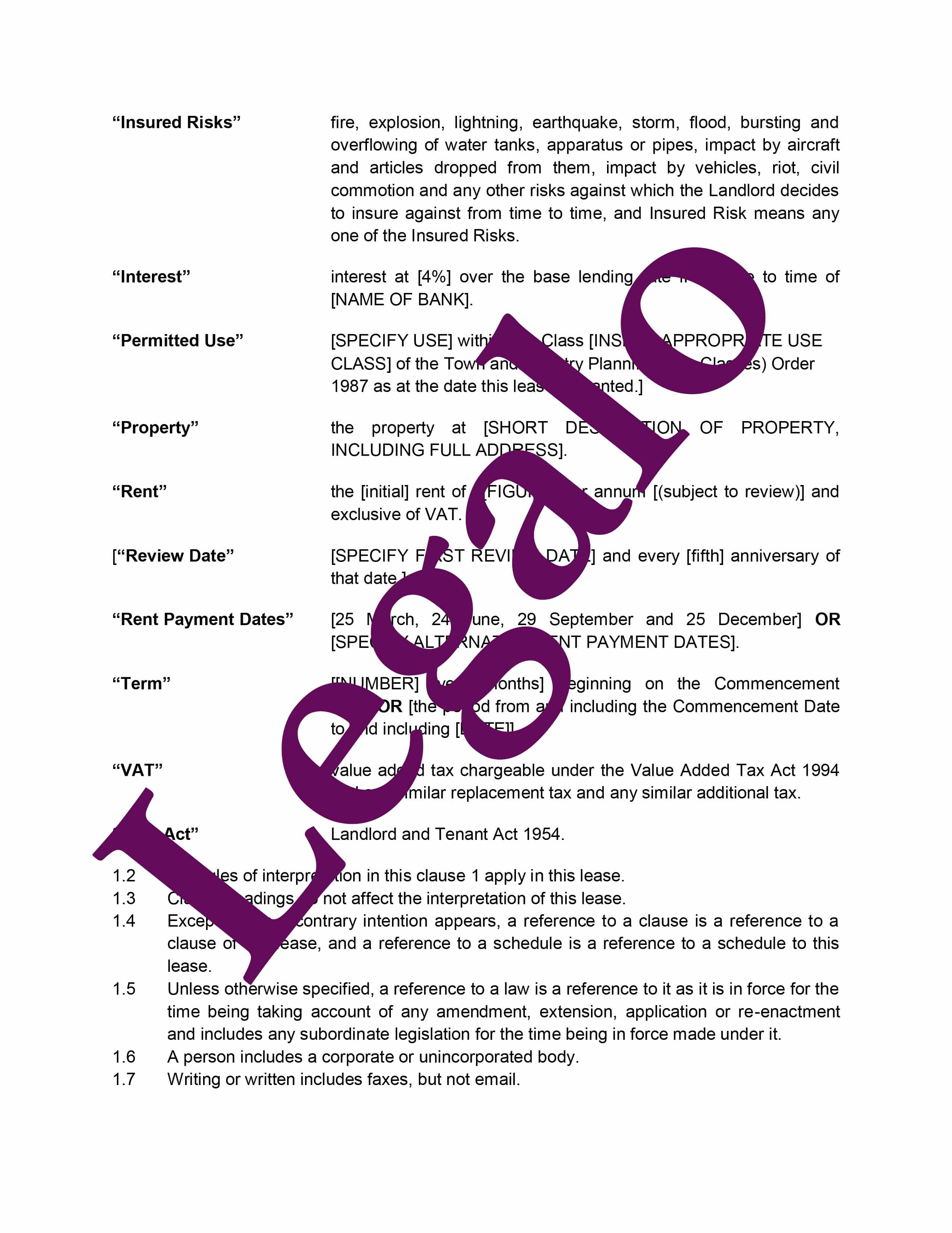 Commercial Lease Agreement Template2 image