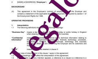 Employment contract preview image page 1