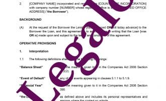 Loan agreement preview image page 1