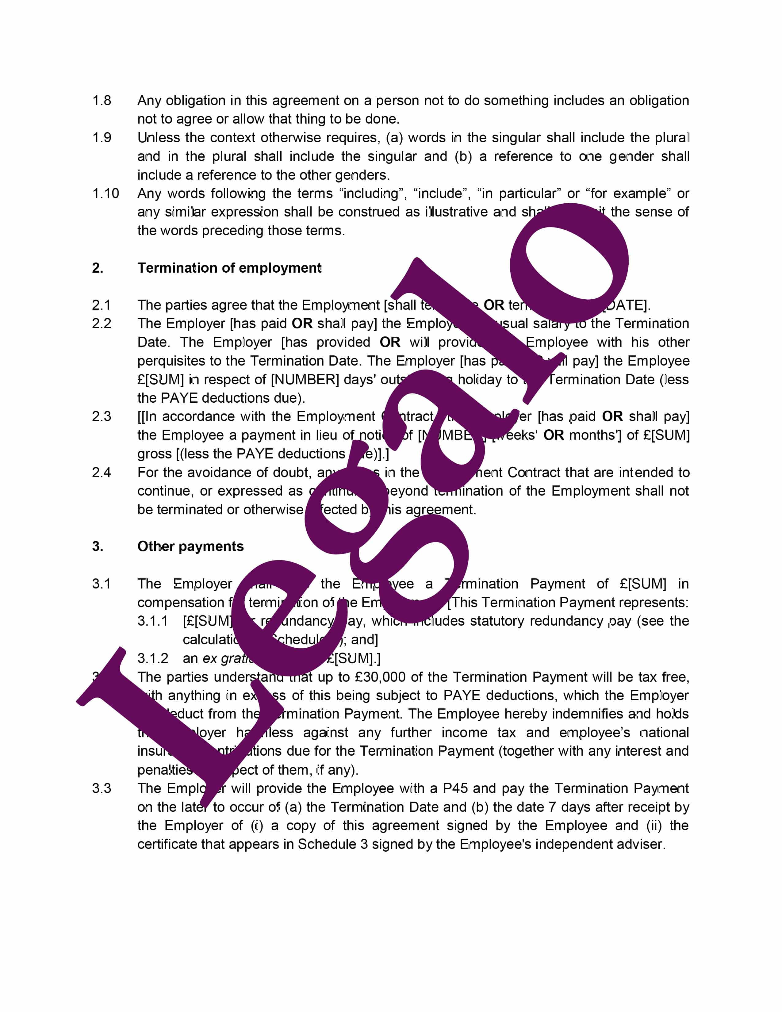 settlement agreement preview image page 2