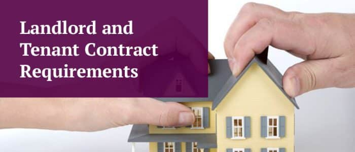 Landlord and Tenant Contract Requirements Image