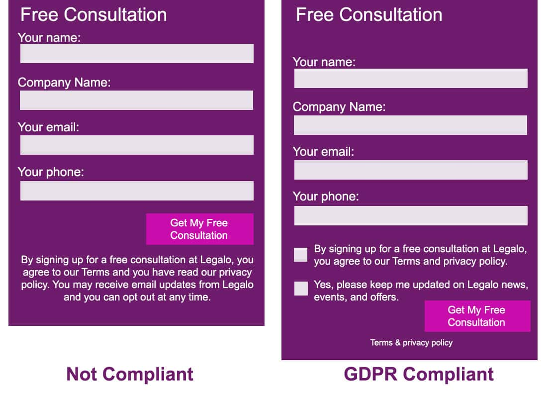 GDPR Compliant Forms Image