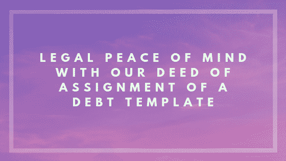 Deed of assignment of a debt image