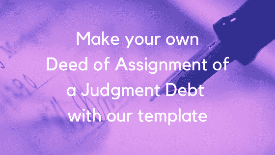 Deed of assignment of a judgment debt image 2