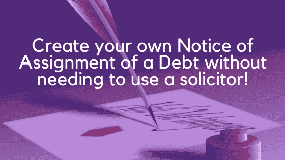 Notice of assignment of a debt image 2