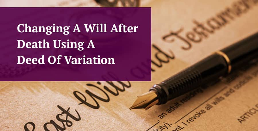 changing a will after death header image