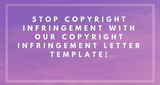 Copyright Infringement Letter Banner Image