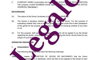 Deed of covenant template preview image page 1