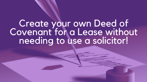 Deed of covenant for a lease image 3