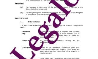 Technology transfer agreement template preview image page 1
