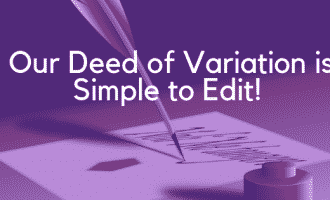 Deed of Variation Will - Editing Banner