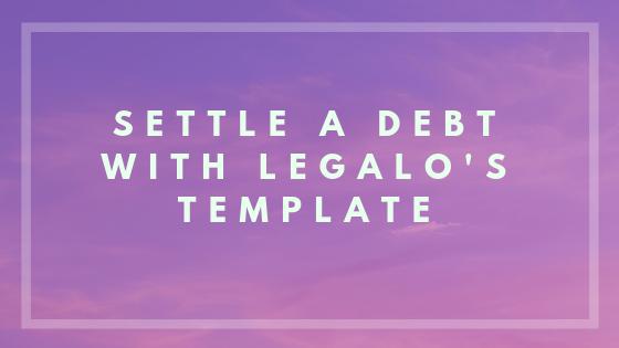 debt settlement letter image