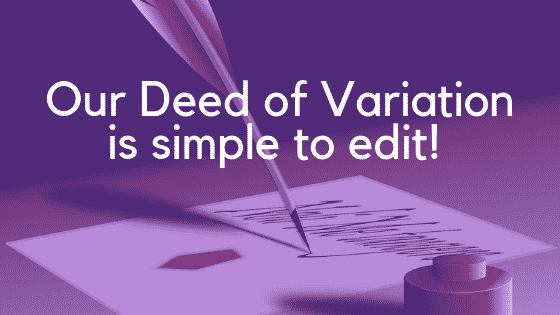 deed of variation for a will image