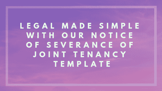 notice of severance of joint tenancy image