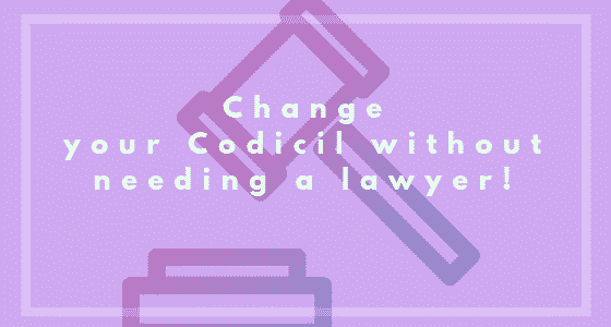 Change Your Codicil Without a Lawyer Image