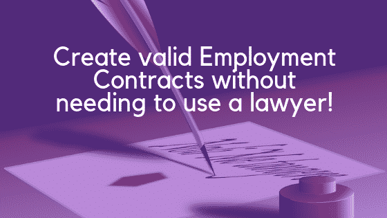 Employment contract image
