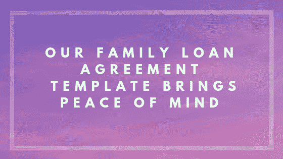 Family loan agreement image