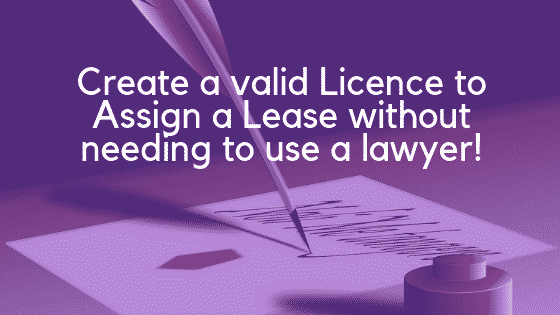 Licence to assign a lease image