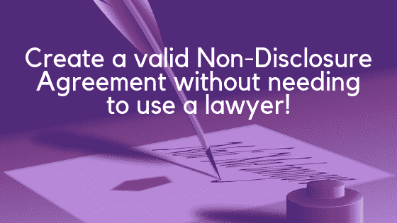 One-way non-disclosure agreement image
