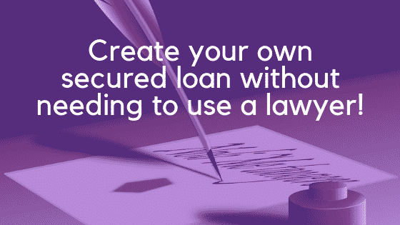 Secured loan with legal charge image