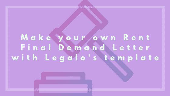 Rent final demand letter image