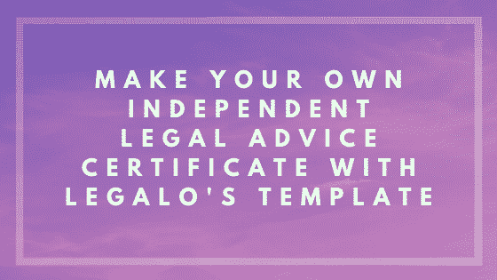 independent legal advice certificate image