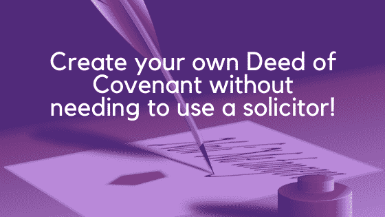 Deed of covenant image 3