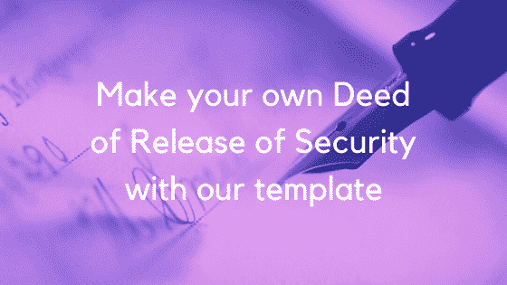 deed of release of security image 1